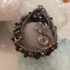 🇨🇦Beautiful Moonstone Steampunk Pendant